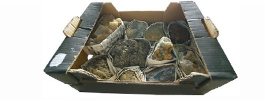 Flats minéraux collections